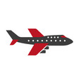 black and red colored airplane vector image vector image