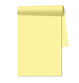 Blank notepad notebook vector image vector image