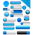 Blue high-detailed modern buttons vector | Price: 1 Credit (USD $1)