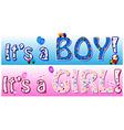 Boy girl announcement vector image