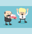 business boss give a car to successful businessmen vector image vector image