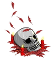 Candles around Skull vector image