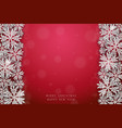 christmas silver glittering snowflakes background vector image vector image