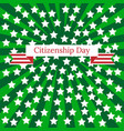 citizenship day in the united states 17 september vector image vector image