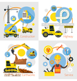 Construction Label Concept Set vector image