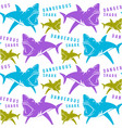 dangerous sharks seamless pattern vector image vector image