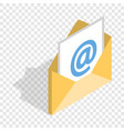 e-mail isometric icon vector image vector image