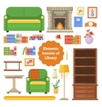 Elements of the interior library or cabinet vector image vector image