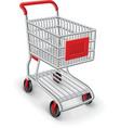 empty shopping cart vector image vector image
