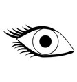 eye human vision view cartoon in black and white vector image vector image
