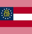 flag usa state georgia vector image vector image