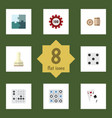 flat icon play set of poker jigsaw backgammon vector image vector image