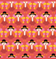 fun thanksgiving pattern turkey seamless vector image vector image