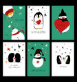funny set love cards vector image