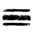 grunge brush set vector image