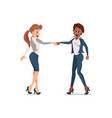 handshake two colleagues vector image vector image