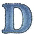 Jeans alphabet Denim letter D vector image vector image