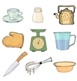 kitchen objects vector image