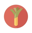 Leek flat icon with long shadow vector image vector image