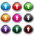 light bulb set 9 collection vector image vector image