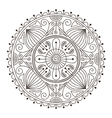 mandala doodle vector image