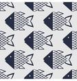 Marine fish pattern vector image vector image