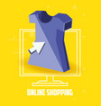 on line shopping with desktop vector image vector image