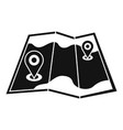 paper map pin icon simple style vector image vector image