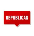 republican red tag vector image vector image