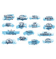 retro car icons emblems set with lettering vector image