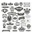 Retro Vintage Insignias vector image vector image