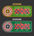 roulette table vector image vector image