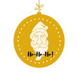 Santa Claus in a gold ball vector image