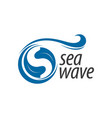 sea wave blue initial letter s logo concept vector image vector image