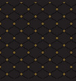 seamless black and gold background pattern vector image