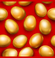 seamless pattern of golden easter eggs vector image vector image