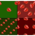 Seamless pattern set with strawberry vector image