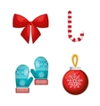 set decoration merry christmas design vector image vector image