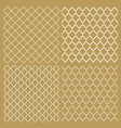 set four traditional arabic delicate patterns vector image vector image