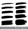 Set of Hand Drawn Grunge Brush Smears vector image vector image