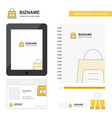 shopping bag business logo tab app diary pvc vector image vector image