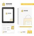 shopping bag business logo tab app diary pvc vector image