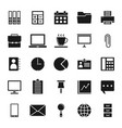 solid icons office icons on white background vector image