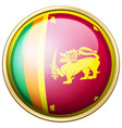 sri lanka flag on round button vector image vector image