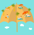 summer vacation on funny beach bodypositive vector image vector image
