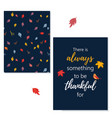 thanksgiving greeting card with greeting vector image vector image