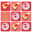 Tic-Tac-Toe of ice cream and crepe cake vector image vector image