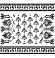 Traditional vintage Greek ornaments set vector image