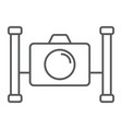 underwater camera thin line icon diving vector image vector image