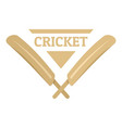 wood cricket bats logo flat style vector image